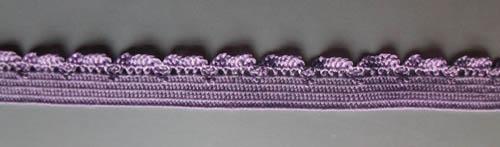 Zierlitze lila mit Häkelkante 8mm