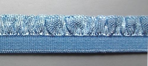 Zierlitze blau Rüsche 15mm
