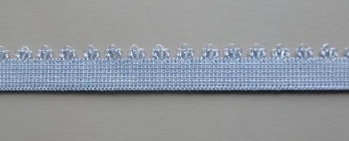 Zierlitze Farbrichtung  rötlich lavendel  Picotkante 10mm