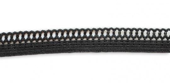 Zierlitze schwarz Lochmusterkante 11 mm
