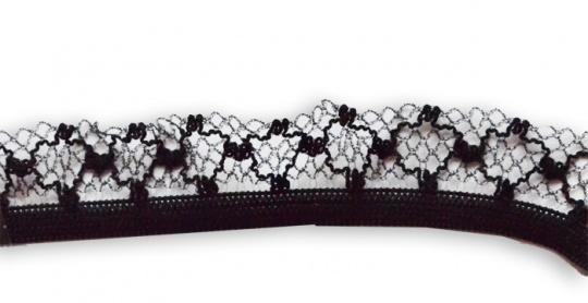 Zierlitze schwarz Rüschenkante 16 mm