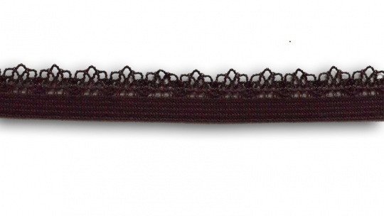 Zierlitze braun-lila-taupe Häkelkante 11mm