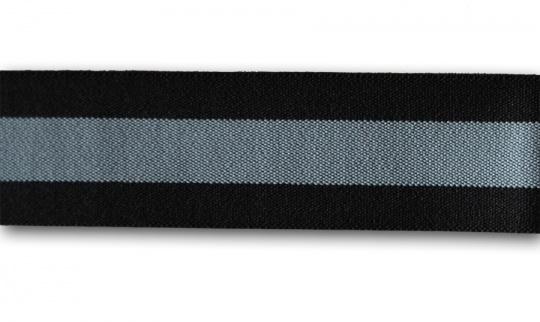 Bundgummi  grau schwarz 30mm