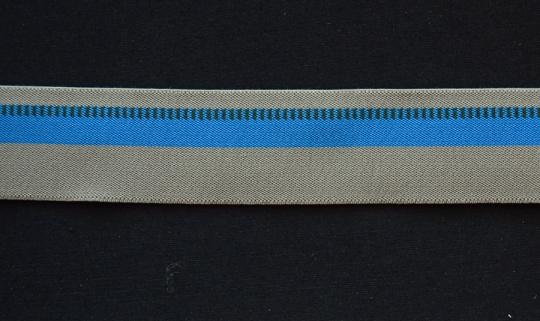 Bundgummi  beige blau 29mm