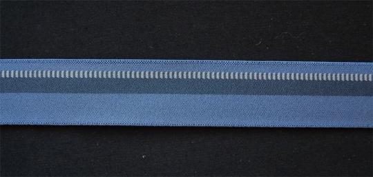 Bundgummi  blau grau weiß 30mm
