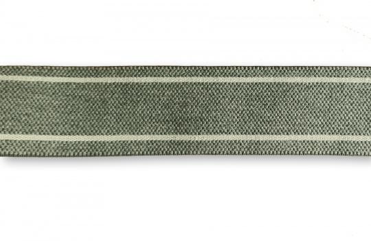 """Bundgummi  Farbrichtung silbergrau/ """"grau""""  gestreift  35mm"""