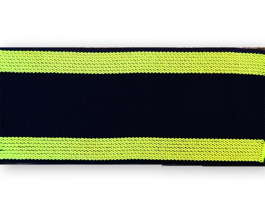 Bundgummi schwarz Farbrichtung kadmiumgelb gestreift  35mm