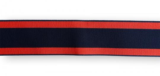 Bundgummi blau rot gestreift  35mm