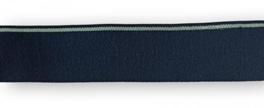 Bundgummi blau grau gestreift  30mm