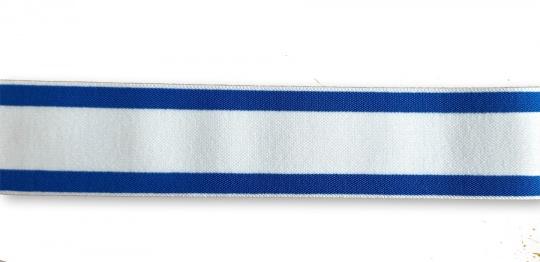Bundgummi blau weiß gestreift  35mm