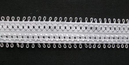 Zierband weiß 15mm