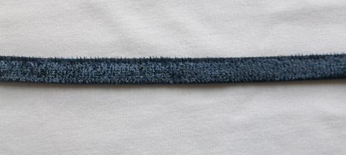 Zierband Samt  dunkel blau  7mm