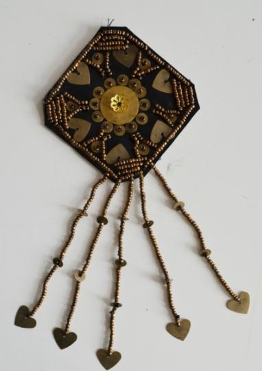 Zierapplikation gold bronze schwarz