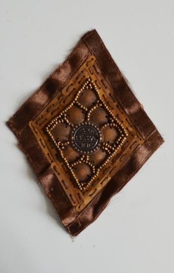 Zierapplikation braun bronze