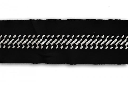 Bademode Effektband elastisch schwarz weiß Stickerei