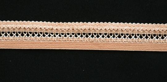 Zierband haut elastisch 15mm