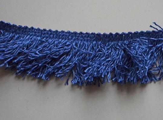 Zierband Farbrichtung jeansblau unelastisch 35mm
