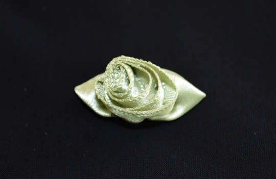Schleifchen grün olive Rose