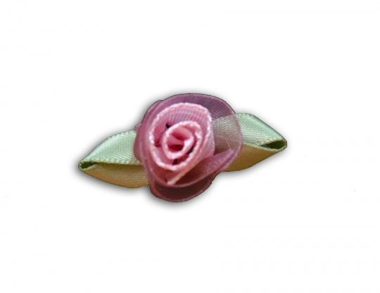 Schleifchen rosa alt weiß grün Rose