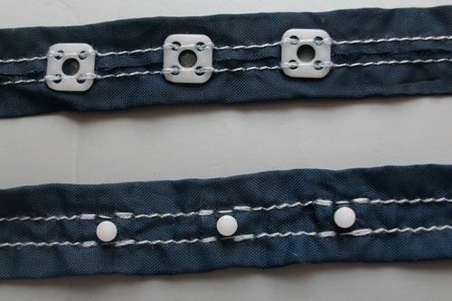 Verschlussband Body blau je 3 Druckknöpfe