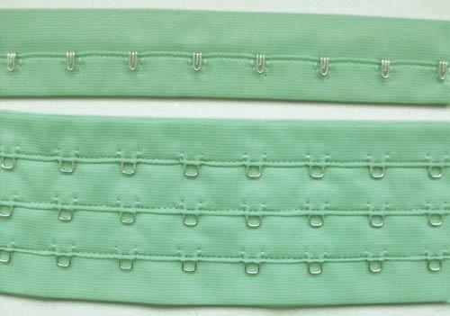 Haken/Augenband grün mint je Haken