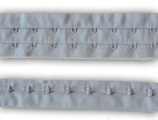 Haken/Augenband grau je Haken