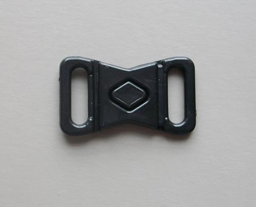 Bikini/Wäscheverschluss Kunststoff schwarz 10mm