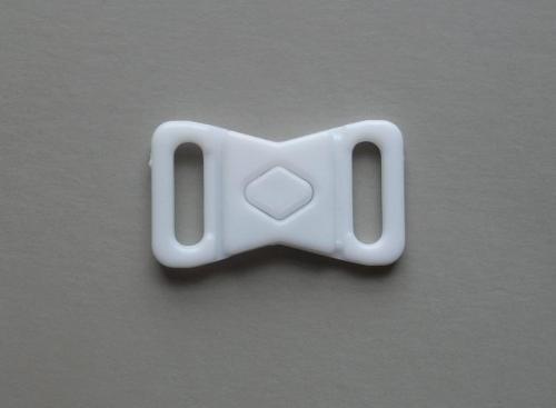 Bikini/Wäscheverschluss Kunststoff weiß 10mm