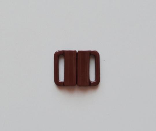 Bikiniverschluss Kunststoff Farbrichtung cognac14mm