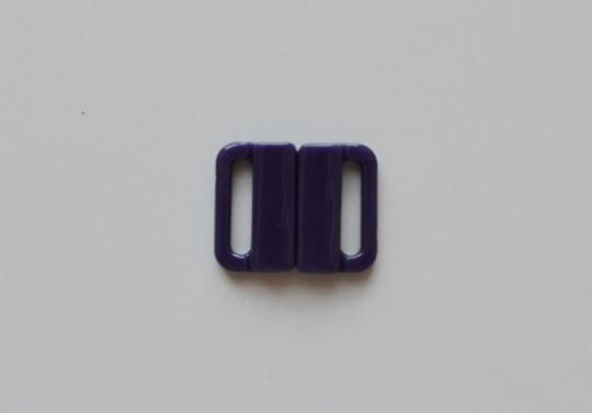 Bikiniverschluss Kunststoff  lila madeira 14mm