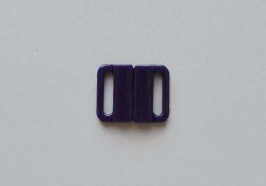 Bikiniverschluss Kunststoff  lila iris 14mm