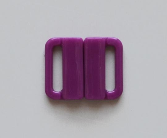 Bikiniverschluss Kunststoff pink hortensie  14mm