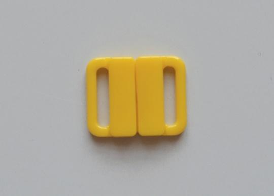 Bikiniverschluss Kunststoff  Farbrichtung sonnengelb 14mm