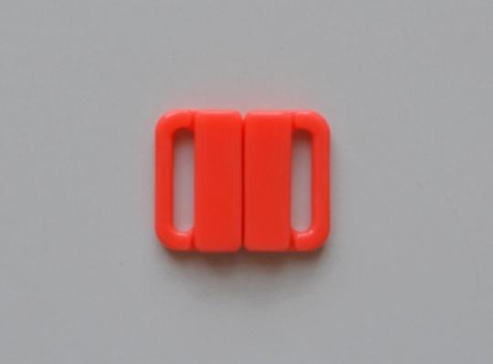 Bikiniverschluss Kunststoff  rot koralle  14mm