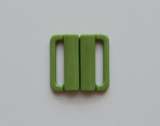 "Bikiniverschluss Kunststoff  Farbrichtung ""moosgrün"" 20mm"