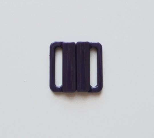 Bikiniverschluss Kunststoff Farbrichtung lila dunkel- maulbeerelila   20mm