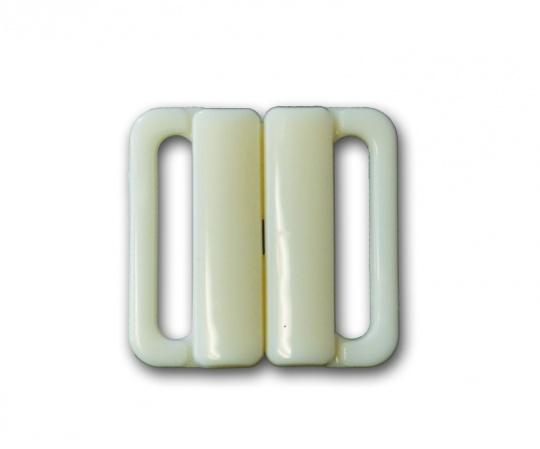 Bikiniverschluss Kunststoff  Farbrichtung creme 20mm