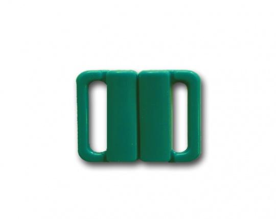 Bikiniverschluss Kunststoff grün türkis 14  mm
