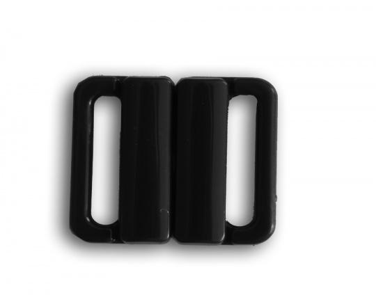 Bikiniverschluss Kunststoff schwarz 14mm