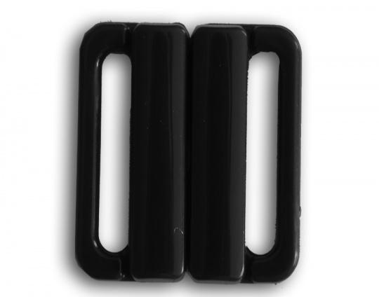Bikiniverschluss Kunststoff schwarz 25 mm