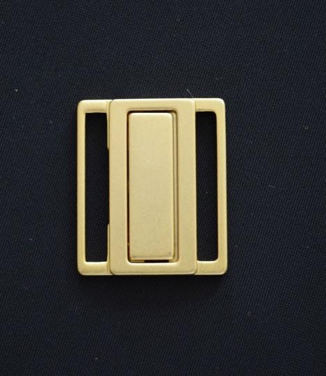 Bikiniverschluss hellgold matt 25mm