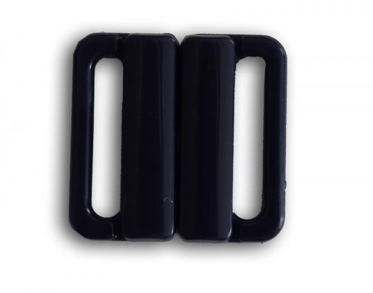 Bikiniverschluss Kunststoff Farbrichtung schwarzblau20mm