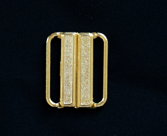 Bikiniverschluss gold 24mm