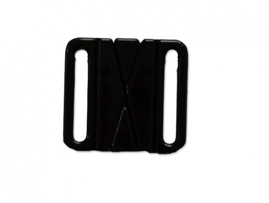 Bikiniverschluss Kunststoff schwarz 28mm