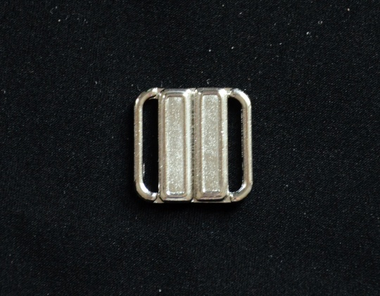 Bikiniverschluss silber 14mm