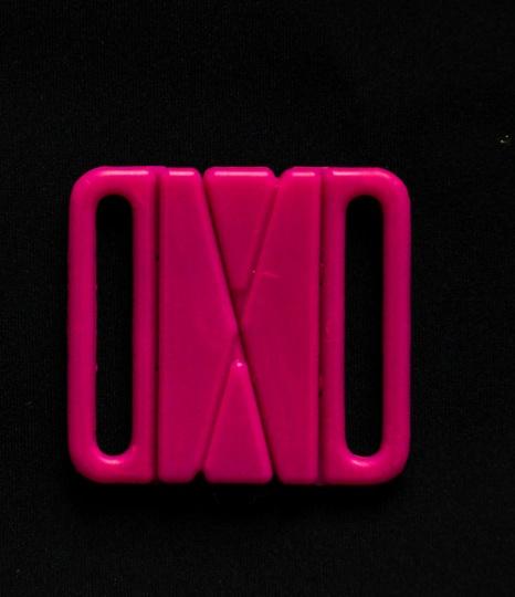 Bikiniverschluss Kunststoff  fuchsia 28mm