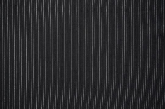 Mikrofaser schwarz Nadelstreifen Double Jersey