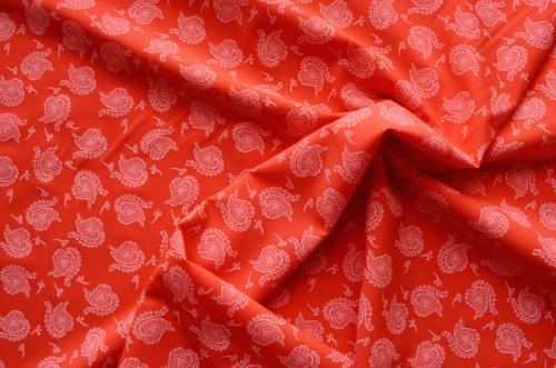 Wäschewaredruck  rot rosa Meterware