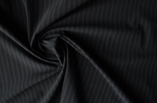 Badeware grau Streifen individuell abgeschnitten