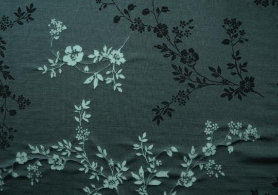 Viskosegemisch Ausbrenner grün schwarz Blumen